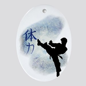Power Kick 2 Oval Ornament