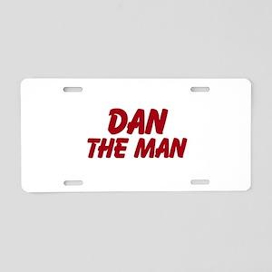 Dan The Man Aluminum License Plate