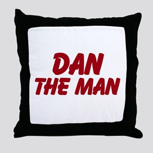 Dan The Man Throw Pillow
