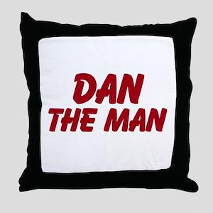 Dan The Man Throw Pillow