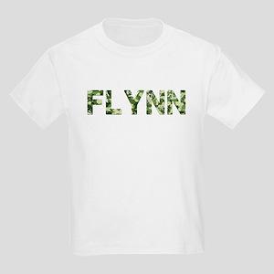 Flynn, Vintage Camo, Kids Light T-Shirt