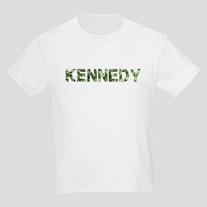 Kennedy, Vintage Camo, Kids Light T-Shirt