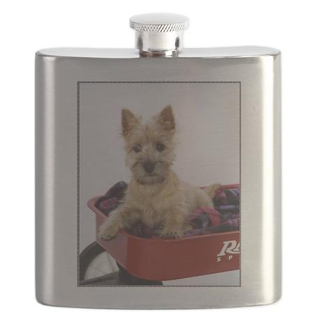 Baby Cairn Terrier Flask