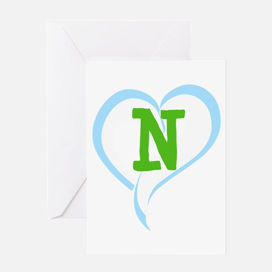 Letter N Greeting Card