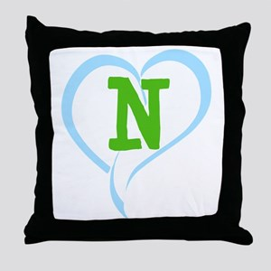 Letter N Throw Pillow