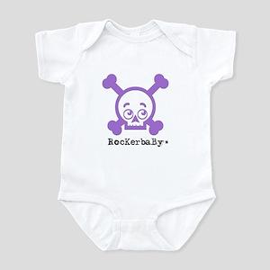 RocKerbaBy skull purple Infant Bodysuit