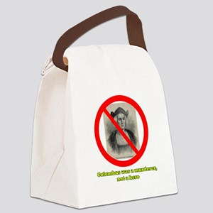 Columbus Not a Hero Canvas Lunch Bag