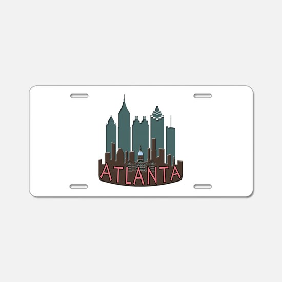 Atlanta Skyline Newwave Chocolate Aluminum License