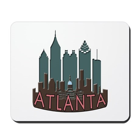 Atlanta Skyline Newwave Chocolate Mousepad