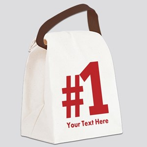 number one Canvas Lunch Bag