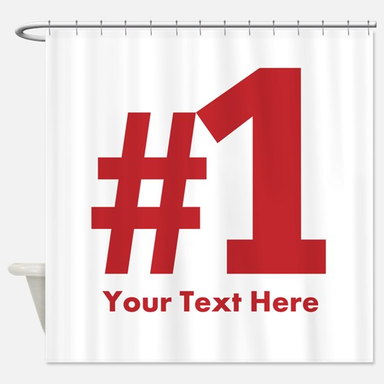 number one Shower Curtain