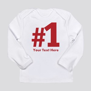 number one Long Sleeve Infant T-Shirt