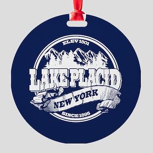 Lake Placid Old Circle Round Ornament