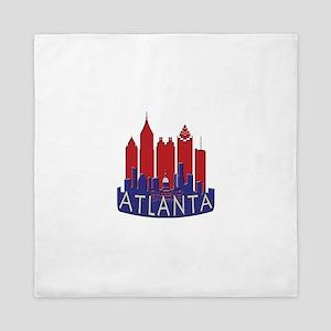 Atlanta Skyline Newwave Patriot Queen Duvet