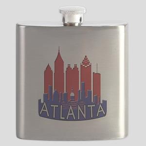 Atlanta Skyline Newwave Patriot Flask