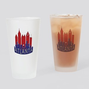 Atlanta Skyline Newwave Patriot Drinking Glass