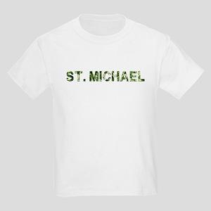 St. Michael, Vintage Camo, Kids Light T-Shirt