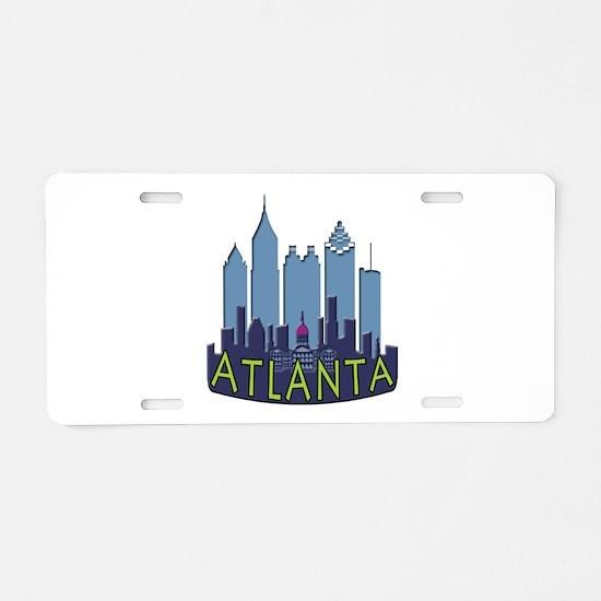 Atlanta Skyline Newwave Cool Aluminum License Plat