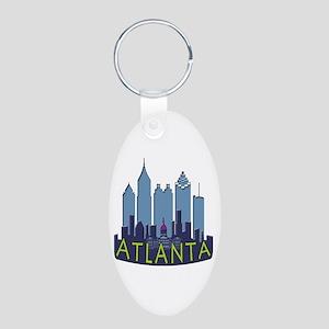 Atlanta Skyline Newwave Cool Aluminum Oval Keychai