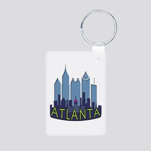 Atlanta Skyline Newwave Cool Aluminum Photo Keycha