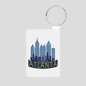 Atlanta Skyline Newwave Cool Aluminum Photo Keycha