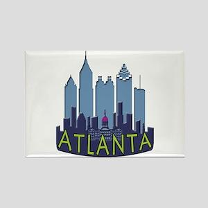 Atlanta Skyline Newwave Cool Rectangle Magnet