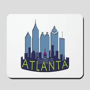 Atlanta Skyline Newwave Cool Mousepad