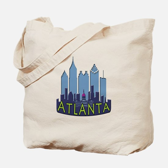 Atlanta Skyline Newwave Cool Tote Bag