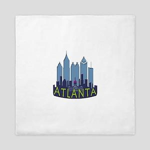 Atlanta Skyline Newwave Cool Queen Duvet