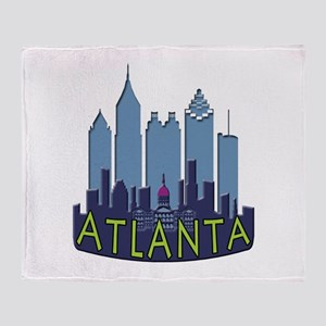 Atlanta Skyline Newwave Cool Throw Blanket