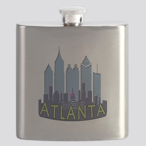 Atlanta Skyline Newwave Cool Flask