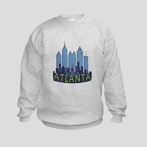 Atlanta Skyline Newwave Cool Kids Sweatshirt