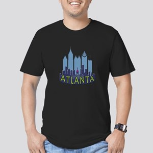 Atlanta Skyline Newwave Cool Men's Fitted T-Shirt