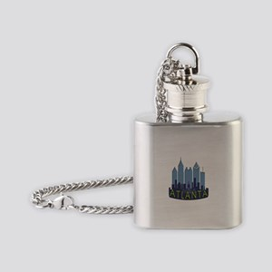 Atlanta Skyline Newwave Cool Flask Necklace