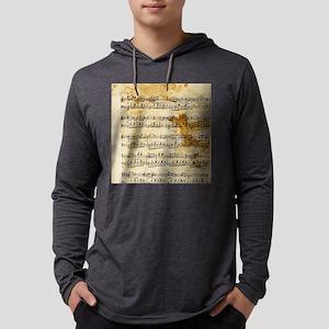 Vintage Music Mens Hooded Shirt