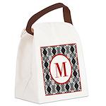 Diamond Red Monogram Canvas Lunch Bag