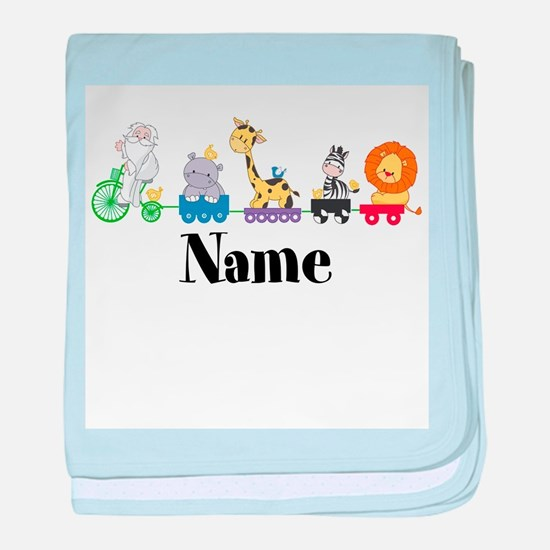 Personalized Noahs Ark baby blanket