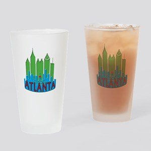 Atlanta Skyline Newwave Primary Drinking Glass