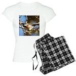 Chickadee in Tree Women's Light Pajamas