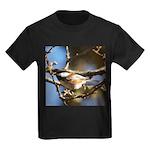 Chickadee in Tree Kids Dark T-Shirt