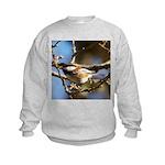 Chickadee in Tree Kids Sweatshirt