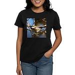 Chickadee in Tree Women's Dark T-Shirt