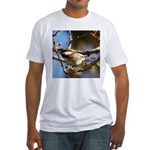 Chickadee in Tree Fitted T-Shirt