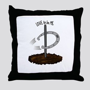 HORSESHOES - LOVE TO BE ME Throw Pillow
