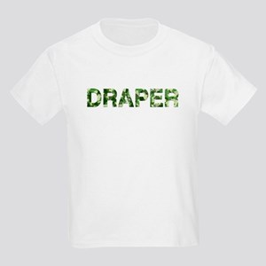 Draper, Vintage Camo, Kids Light T-Shirt