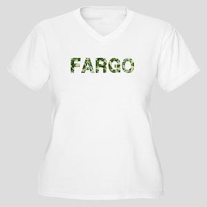 Fargo, Vintage Camo, Women's Plus Size V-Neck T-Sh