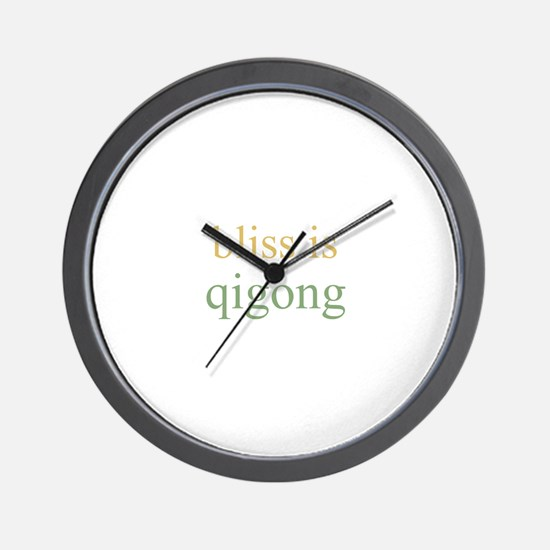 bliss is QIGONG  Wall Clock