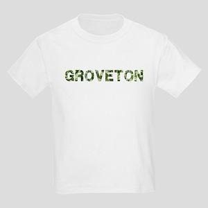 Groveton, Vintage Camo, Kids Light T-Shirt