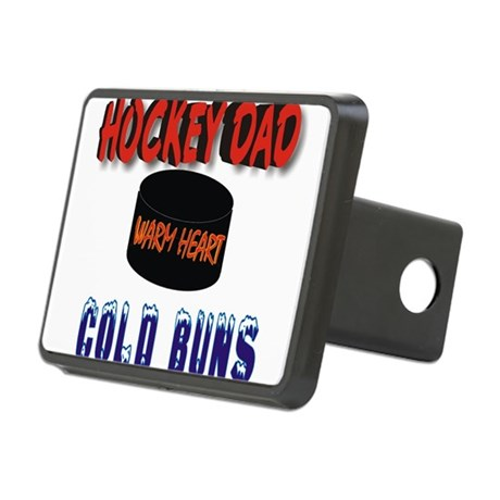 HOCKEY DAD.png Rectangular Hitch Cover