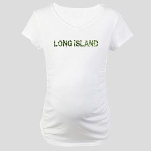 Long Island, Vintage Camo, Maternity T-Shirt